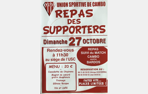 Programme du week-end du 26/27 Octobre